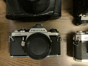 Misc camera gear, film and digital Pentax ME, Canon AE-1 - $99