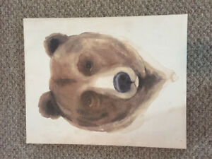 Bear canvas picture / wall art