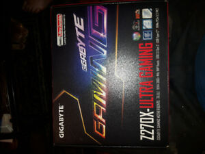 Brand new GIGABYTE GA-Z270X-Ultra Gaming MotherBoard Gen 7 i7