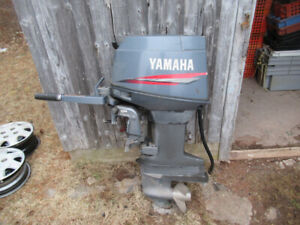 Yamaha 30 horsepower 2 stroke long shaft outboard ,with 2 props
