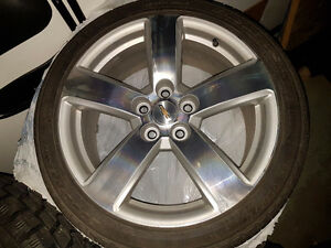 Set of 4 Tires and rims with pressure monitoring system Prince George British Columbia image 1