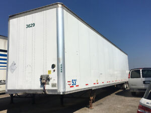 53 Foot Plated  Dry Van Trailer with Small tires