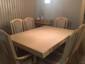 Six chairs dining table and Cabinet - Sale
