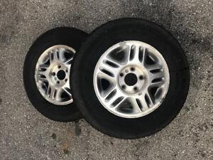 2 tires size P215 70 R15