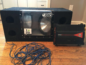Car subs + amp + wires**