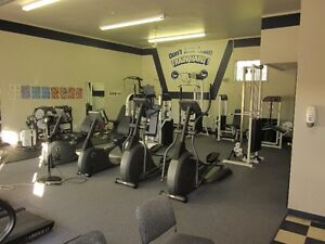 Fitness center with cardlock system