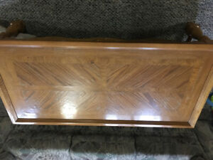 Oak coffee table and matching end table