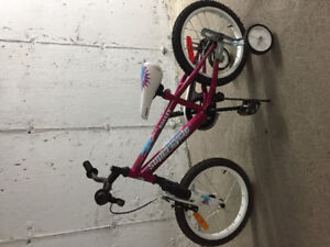 """Vélo 16"""", rose Super Cycle,"""
