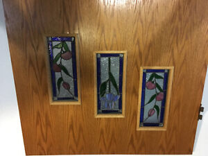 Solid Wood door with stained glass Kitchener / Waterloo Kitchener Area image 2