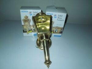 Vintage Solid Brass Outdoor Coach Lights Set of Three