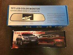 New IR night vision backup camera w/ monitor on rear view mirror