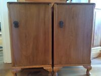 Two antique side tables