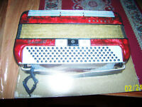 Ladies Accordian,, HORNER  120 Bass  with case