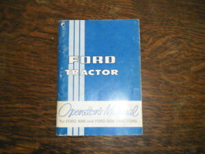Ford 4000 and 5000 Tractors Operators Manual