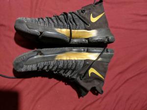 Kd 9 elite black and gold mens shoes