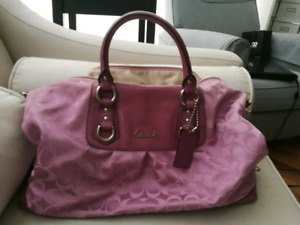 Coach duffle shaped purse