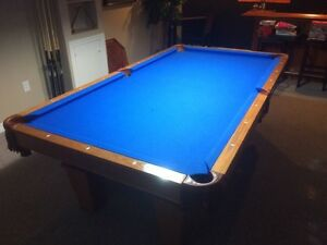 Pool Table & Accessories including the light