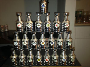 Complete set - 1990's LABATTS MINI STANLEY CUPS - 30 hockey cups