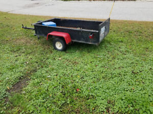 4x8 trailer with drop down gate