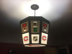 Luminaire tableau indicateur du Canadien de Montréal. 125.00$