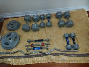 Dumbells, Plates and rods