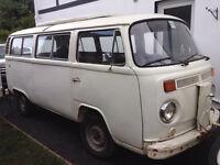 1977 vw T2 camper bus RHD