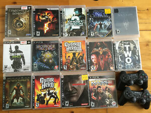 PS3 game + 2 controller- jeux ps3 + 2 manettes