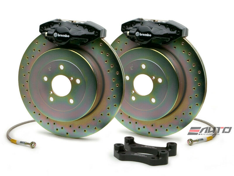 Brembo Rear Gt Brake 2pot Caliper Black 316x20 Drill Disc For Frs Gt86 Brz Wrx