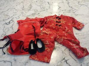 American Girl Doll Ivy's Chinese New Year Dress and Shoes Retire