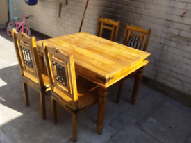 Solid hardwood gothic style table