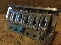 Chrome stratocaster bridge tremolo system