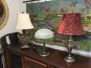 Good quality, heavy base lamps
