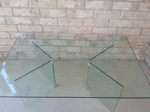 Large Bevelled glass top and base coffee table London Ontario image 6
