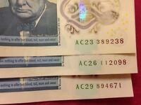 3 AC £5 NOTE and free postage