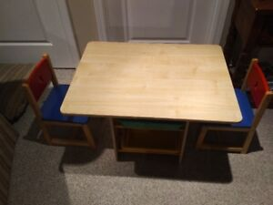 Toddler Table & Chairs Set