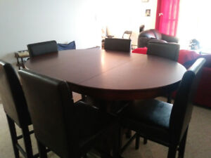 Dining Room Table and 6 Bar Stools for sale