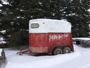 Small horse trailer