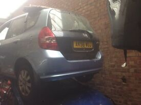 2002-2008 HONDA JAZZ 1.4 dsi manual parts available in light blue