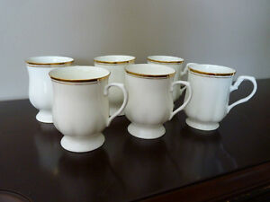 Vintage Hitkari Bone China Coffee Mugs