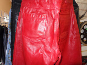 Red Leather ladies pants size 4-   recycledgear.ca Kawartha Lakes Peterborough Area image 6