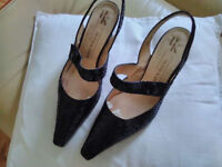 Peter Kaiser Delightful women's evening shoes (hardy worn)