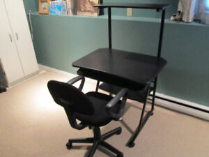 student or computer desk and chair
