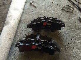 Audi B7 RS4 front brake calipers 8 pot brembo's