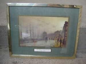 3 FRAMED ANTIQUE PRINTS/COLLECTIBLES/PICTURES