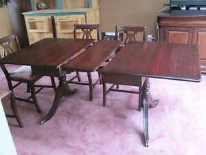 Antique Mahogany Dining Set, Krug Furniture Co.