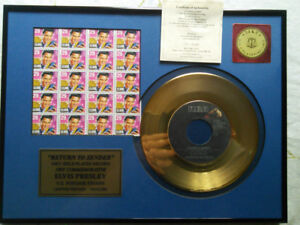 Elvis Presley return to sender stamps & L15 record