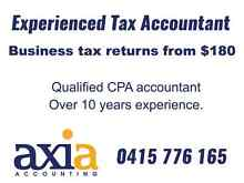 Business/Company Tax Returns from $180 - Tax Accountant Perth Kewdale Belmont Area Preview