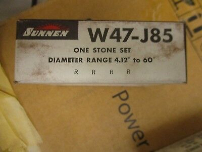 Sunnen W47-j85 One Stone Set For Portable Cylinder Hones- New