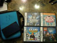 Blue Nintendo DS w/case and Games
