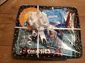Valentines hamper gift basket for him, husband, boyfriend